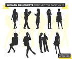 Woman Silhouette Free Vector Pack Vol. 3