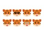 Free Cute Tiger Emoticons
