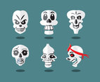 Funky Cartoon Skull Vector