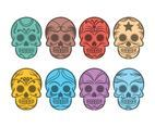 Free Cartoon Skull Calavera Vector Set