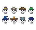 Cartoon Skull With Hat