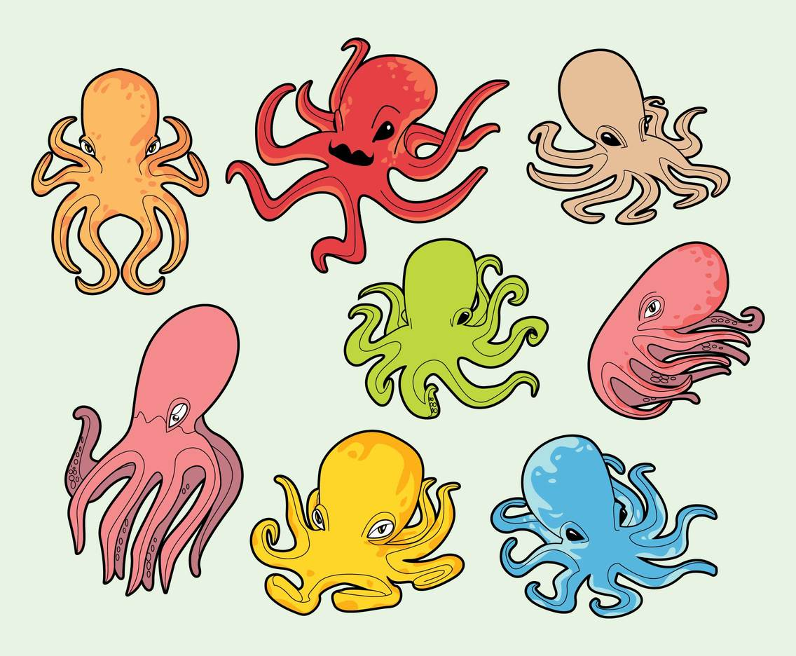 Free Cartoon Octopus Vector
