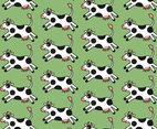 Free Cartoon Cow Vector Pattern