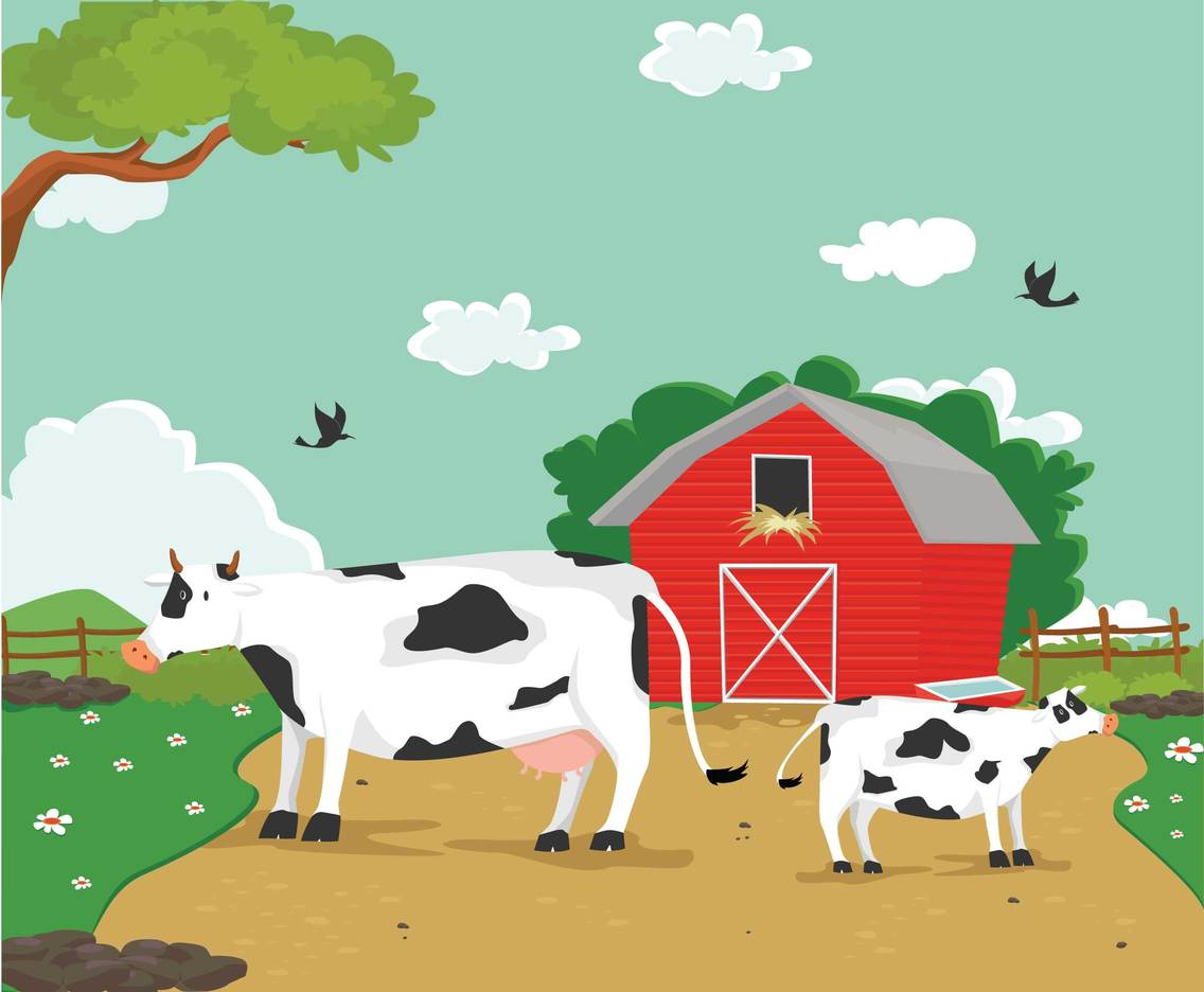 Free Cartoon Cow Illustration