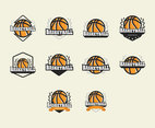 Basketball Logos Template Vector Set