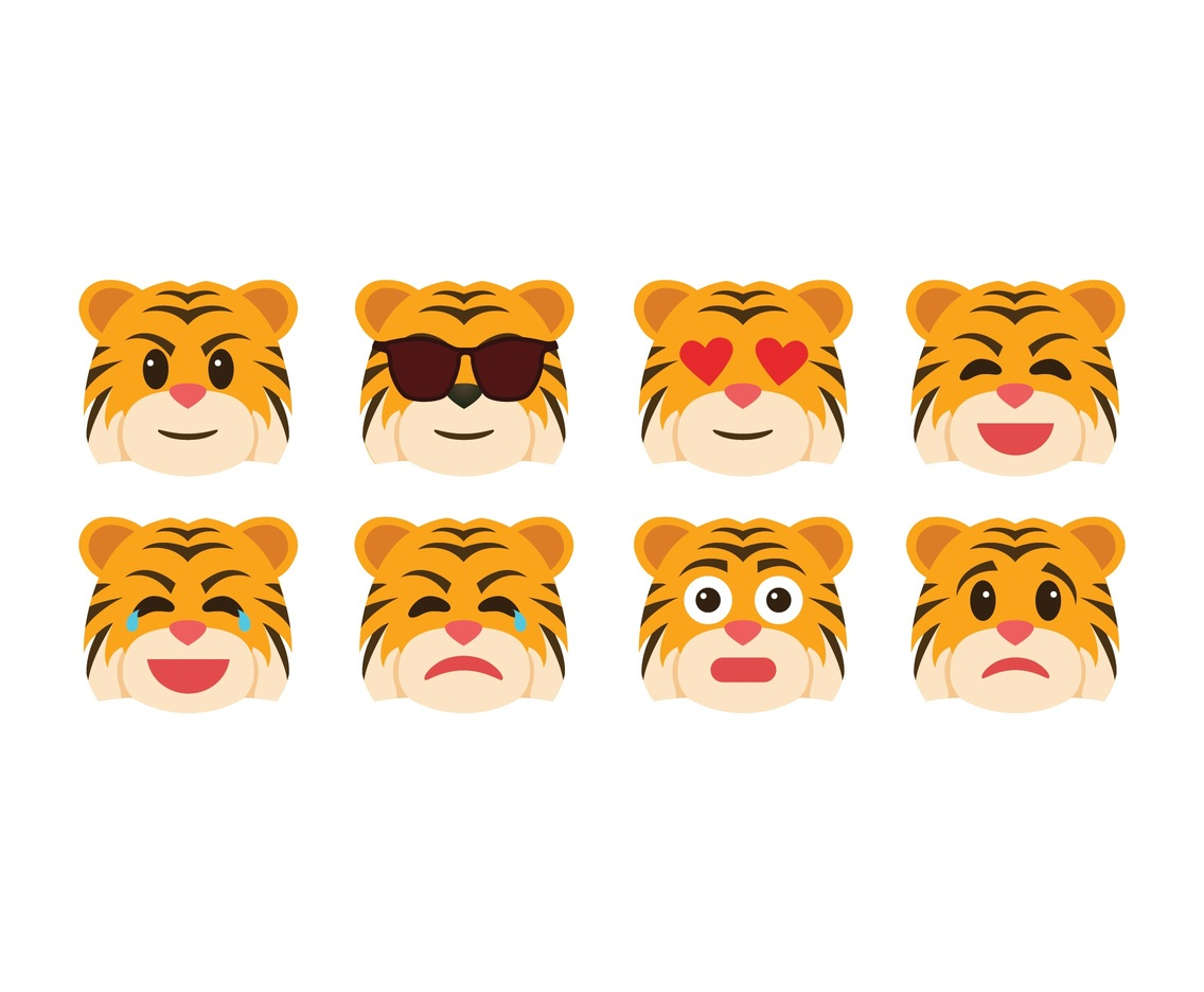 Free Cartoon Tiger Emoticons