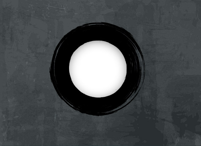 Grunge Circle Vector with Grunge Background