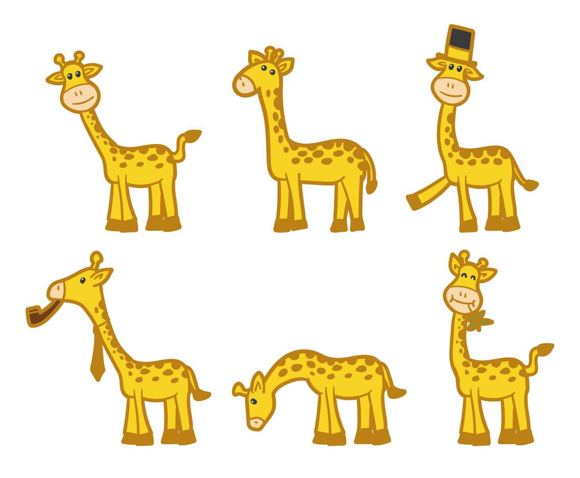 Cartoon Giraffe Vectors