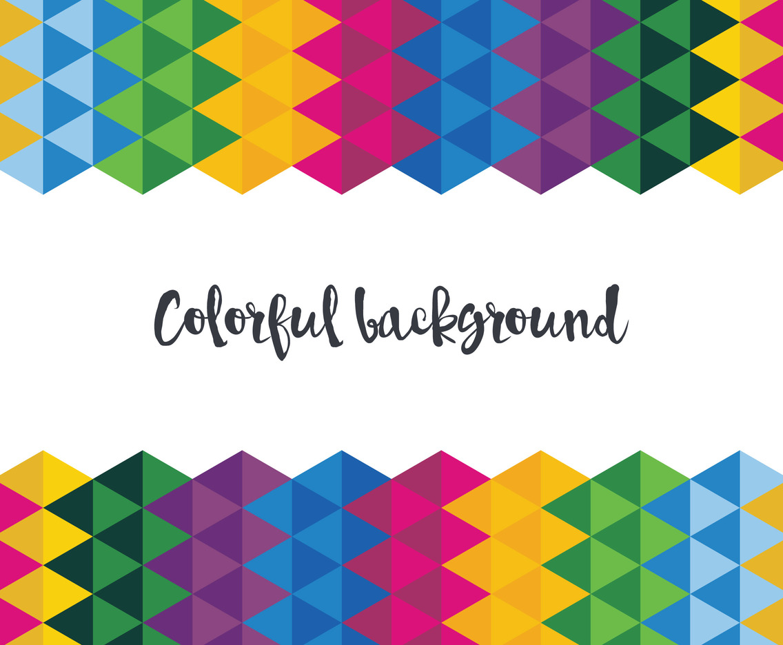 The Colorful Rainbow Background Vector