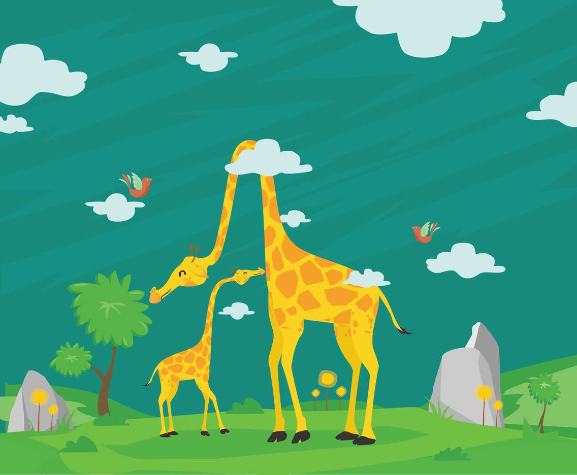 Free Cartoon Giraffe Illustration