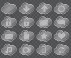 Glass Cloud Icons