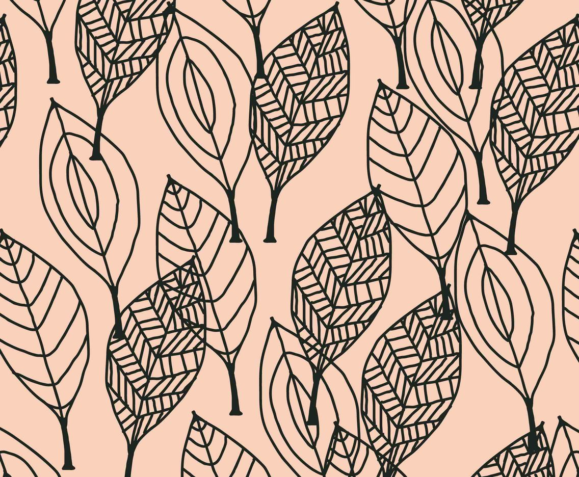 Black Leaves Pattern Vector Art Graphics Freevector Com