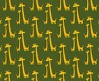 Free Cartoon Giraffe Vector Pattern