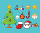 Cartoon Christmas Tree icons