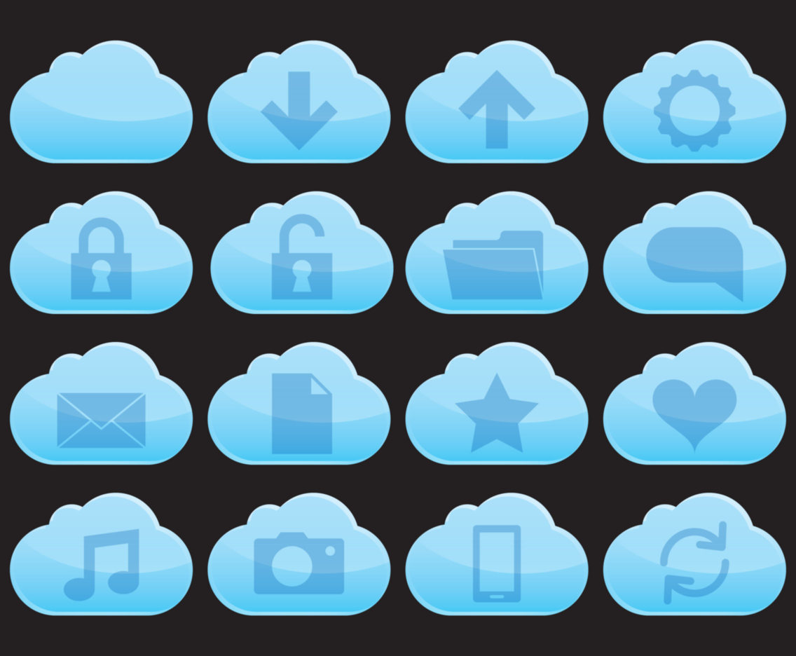 Flat Cloud Service Icons