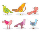 Hand Drawn Cartoon Bird Vector