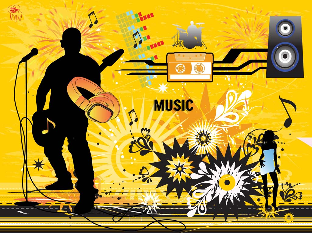 Modern Music Vector Design Vector Art & Graphics