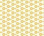 Hippie Symbol Pattern Background