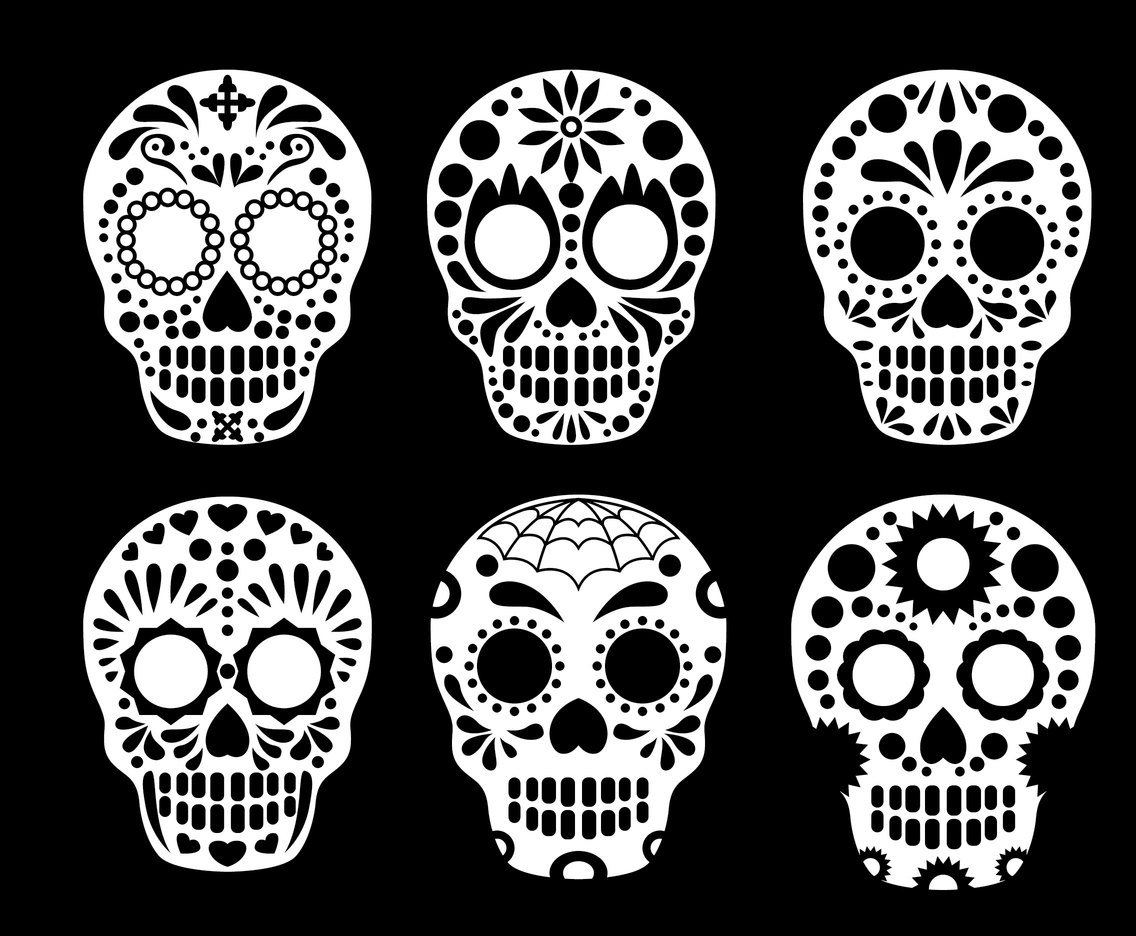 Mexican Skull Collection Vector