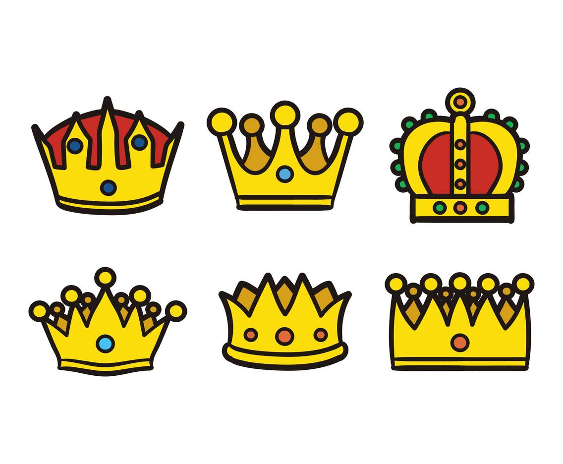 Cartoon Crown Vector