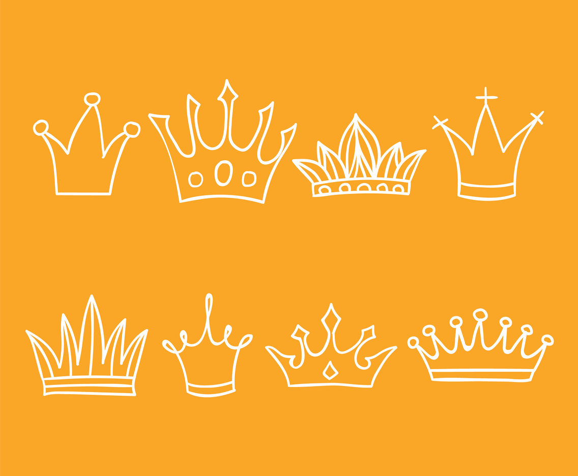 Hand Drawn Cartoon Crown Vector Set Vector Art Graphics Freevector Com Here you can explore hq crown transparent illustrations, icons and clipart with filter setting like size, type, color etc. hand drawn cartoon crown vector set