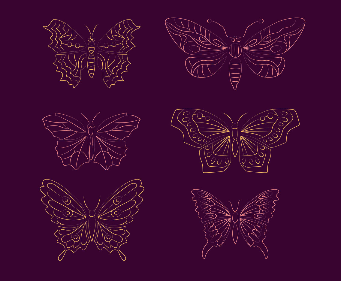 Tin LIne Butterfly Collection Set