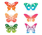 Colorful Butterfly clip Art Vector