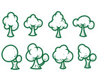 Free Cartoon Tree Vectors