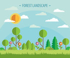Vector Forest Landscape