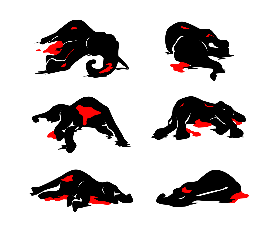 Free Poached Elephant Vectors