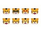 Free Tiger Emoticons
