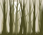 Forest Background Vector with Trees