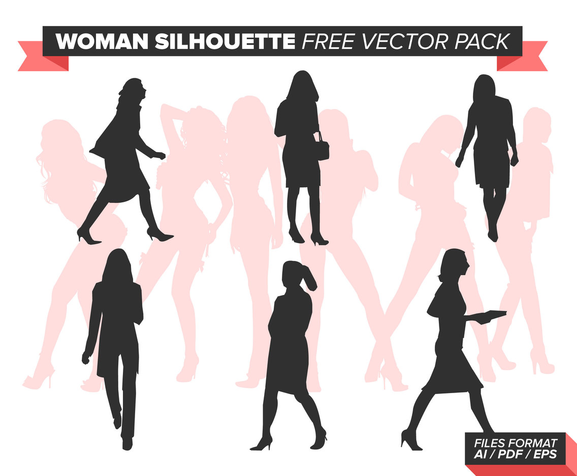 Woman Silhouette Free Vector Pack