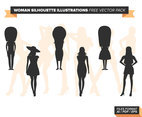 Woman Silhouette Illustrations Free Vector Pack
