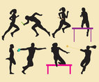 Athletics Women Silhouettes
