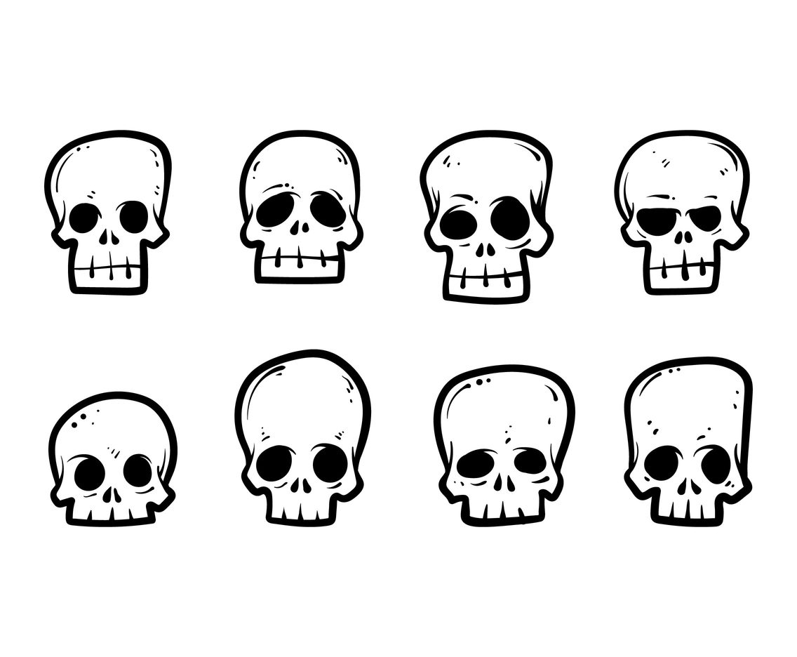 Free Cartoon Skull Vectors