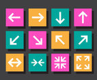 Flat Arrow Vector Set