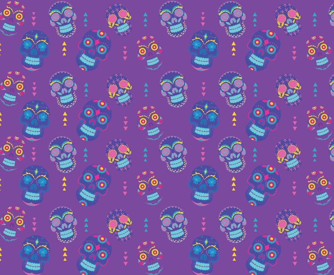 Cartoon Skull Pattern Vector