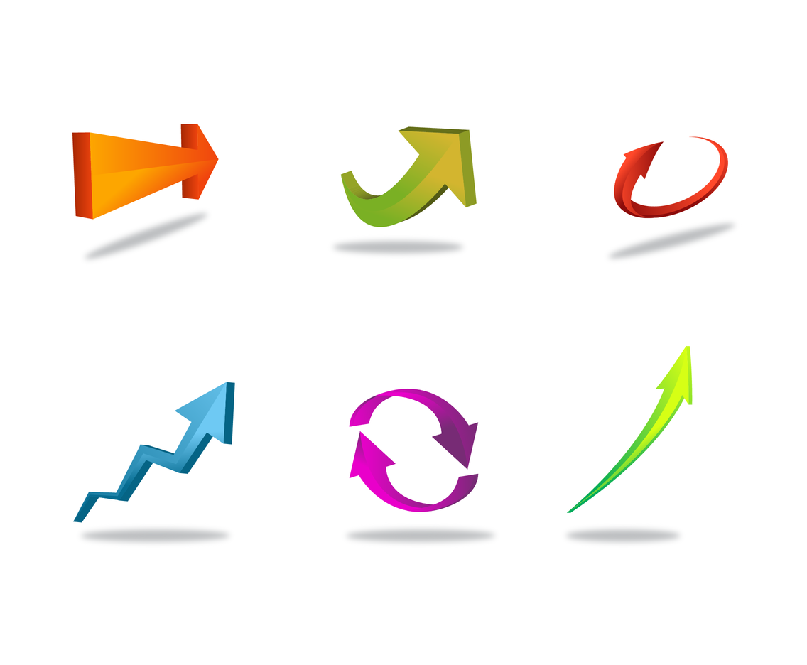 Free 3D Arrow Vector