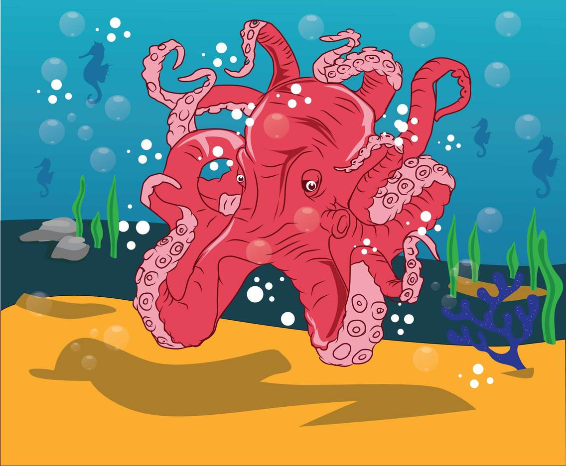 Free Cartoon Octopus