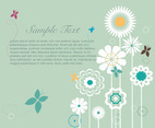 Flowers background flat vector