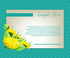 Flowers background invitation