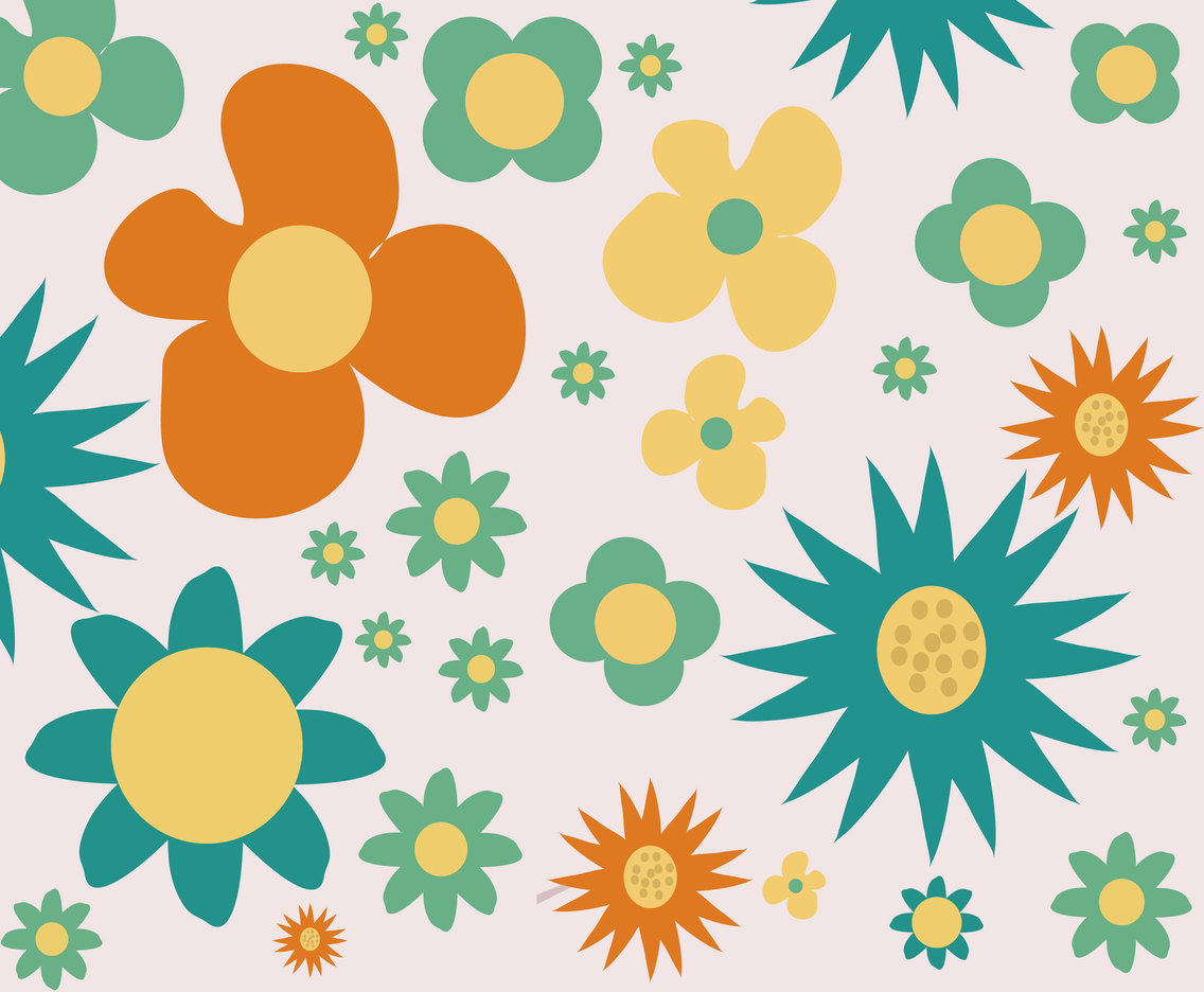 Sweet Flowery Background Vector