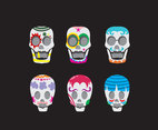 Decorated Mexican Skull Vector