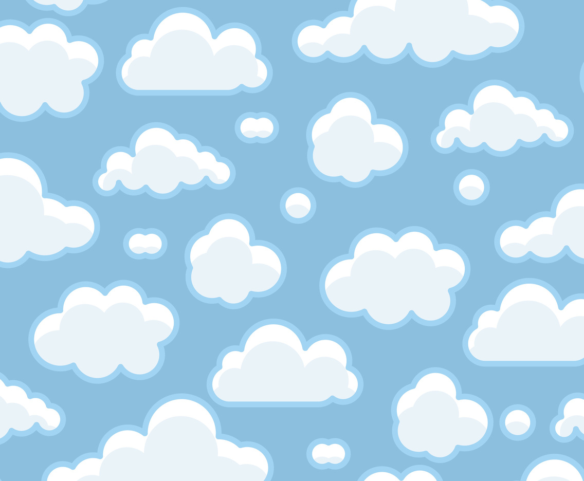 blue clouds background vector art graphics