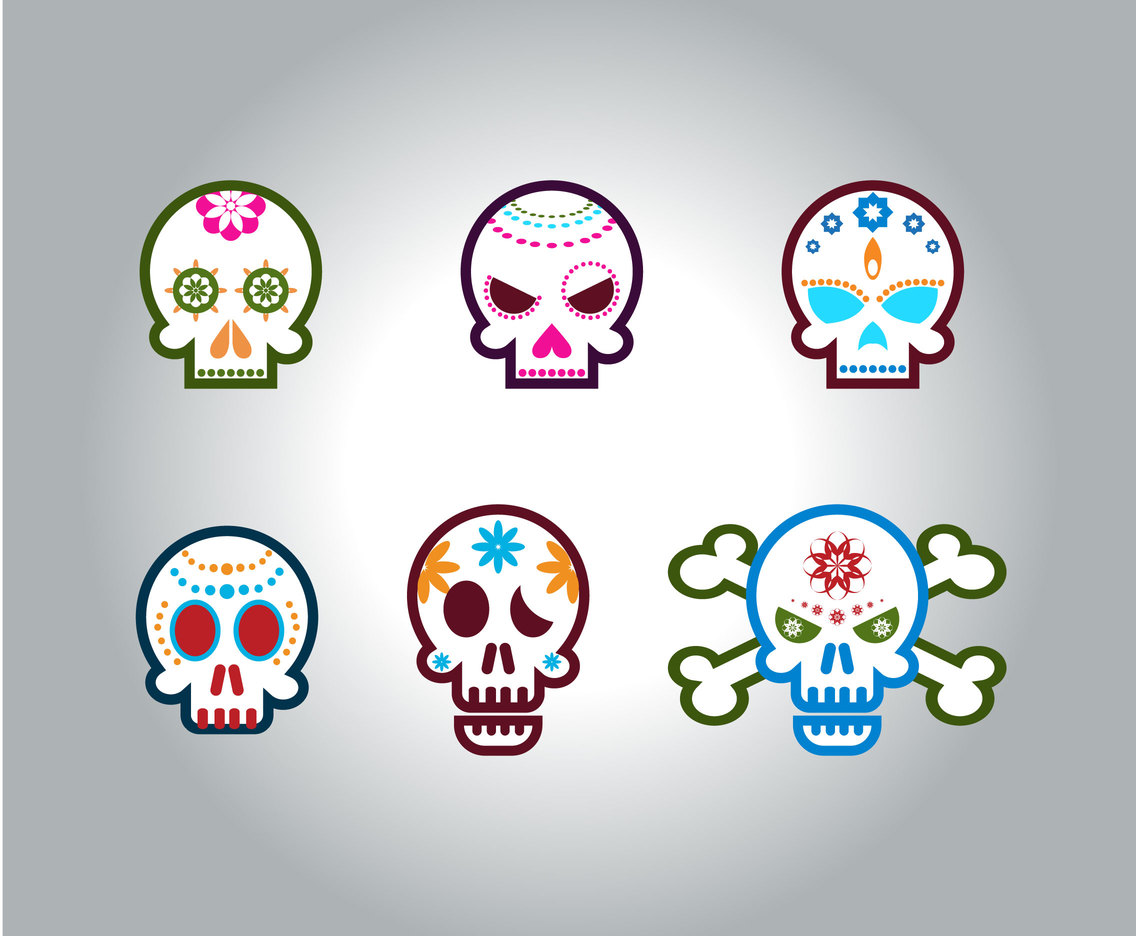 Cool Mexican Skull Vector