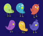 Cartoon Birds Illustrations