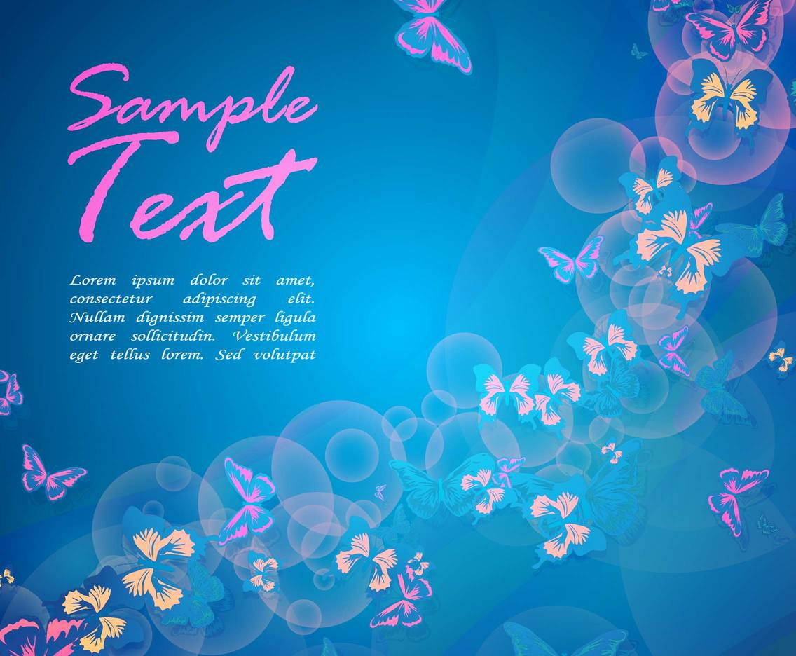 Butterfly Clip Art Background
