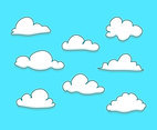 Cartoon Clouds Illustration Vector