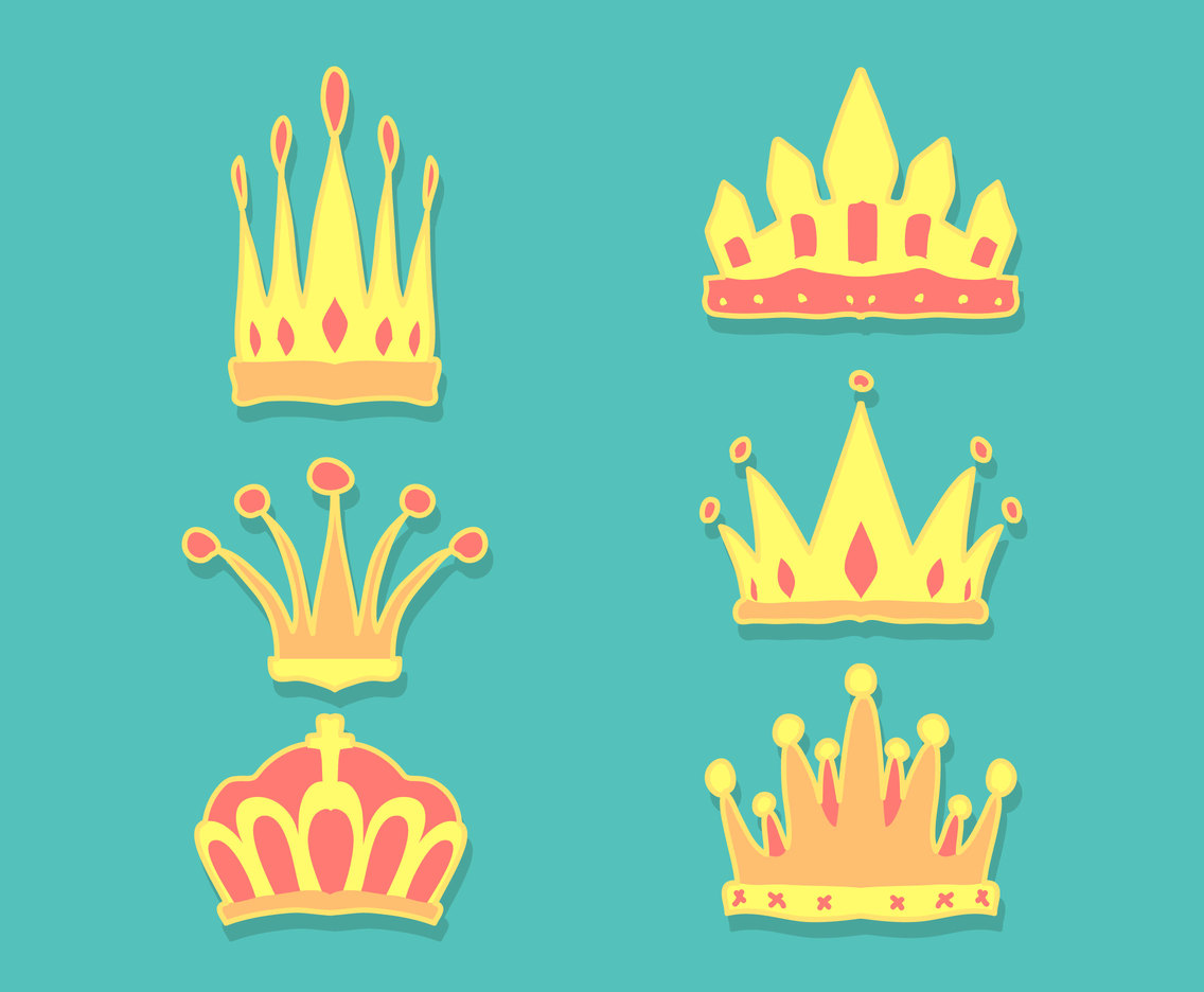 Cartoon Crowns Illustration Vector
